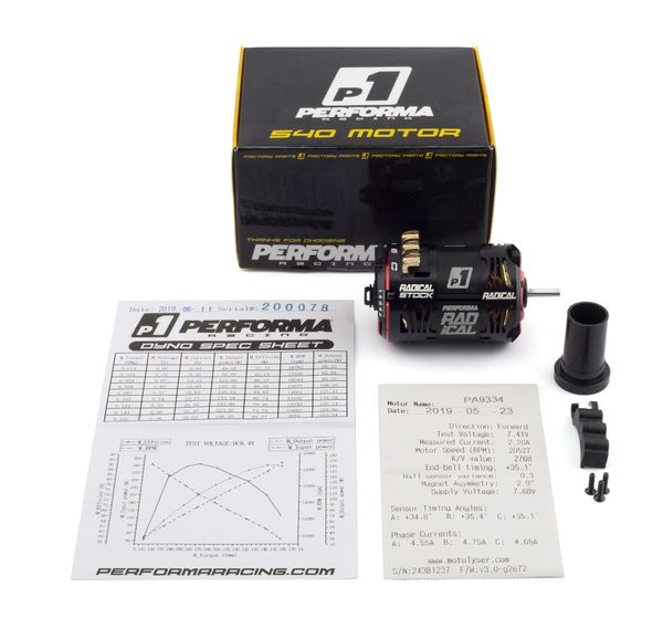 PA9334-Performa P1 Radical 540 Stock Motor 13.5 T (Qualified)